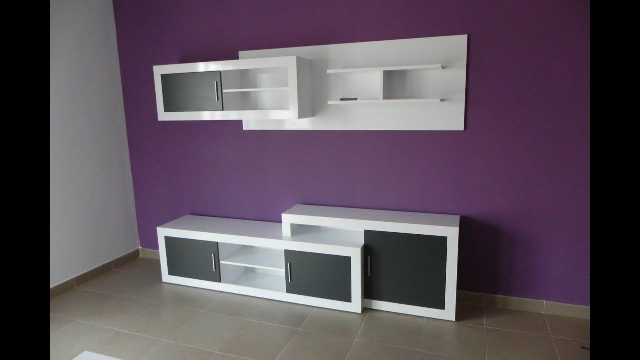 Mueble de comedor modular con bajo de 245 a 300 cm y for Muebles de pladur para salon