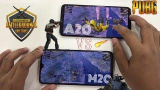 Samsung Galaxy A20 vs Samsung Galaxy M20 Pubg Gaming Test