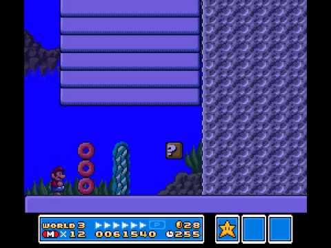 Super Mario All-Stars - Super Mario Bros 3 Underwater Song - User video