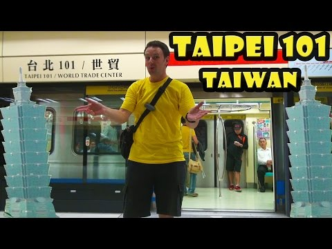 Visiting Taipei 101 - The tallest building in Taiwan!