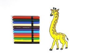 Learn to Color Giraffe for kids & Toddlers