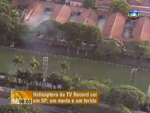 Queda Helicoptero TV Record- Video Completo do Globocop