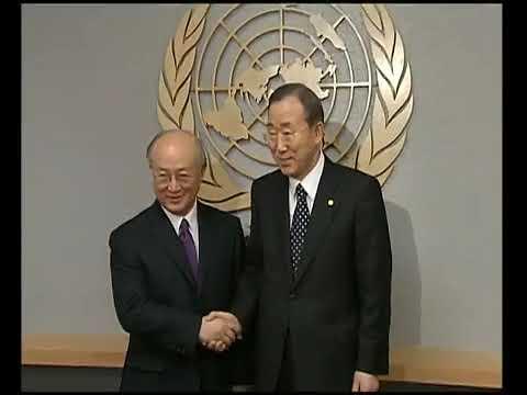 MaximsNewsNetwork: IAEA NEW DIRECTOR, YUKIYA AMANO & U.N. S-G BAN KI-MOON MEET (UNTV)