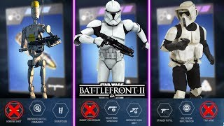 TOP 10 WORST INFANTRY ABILITY STAR CARDS! Star Wars Battlefront 2