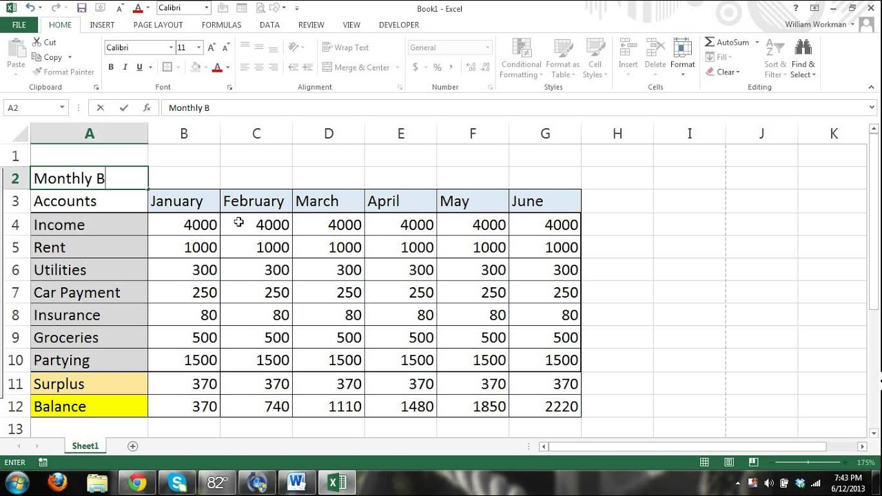 Ms Excel 2013 Tutorial For Beginners Part 4