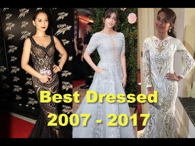 BEST DRESSED FEMALE at STAR MAGIC BALL from 2007 to 2017