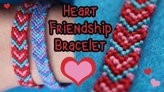 Tutorial: Heart Friendship Bracelet {3 Colors} ♥