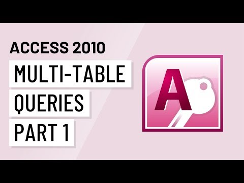 Access 2010: Mult-Table Queries, Part 1