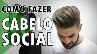 🔵 COMO FAZER CABELO MASCULINO SOCIAL CLÁSSICO | DICAS DE ESTILO