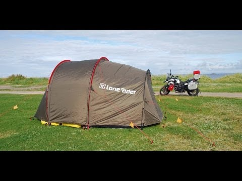 Motorcycle Tour to Norway - Lone Rider Mototent (Tent Review - English Version)