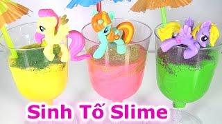 😉💕Làm Sinh Tố Slime /Cách Làm Chất Nhờn Ma Quái Đủ Màu Sắc 💕How To Make Smothie Slime Craft