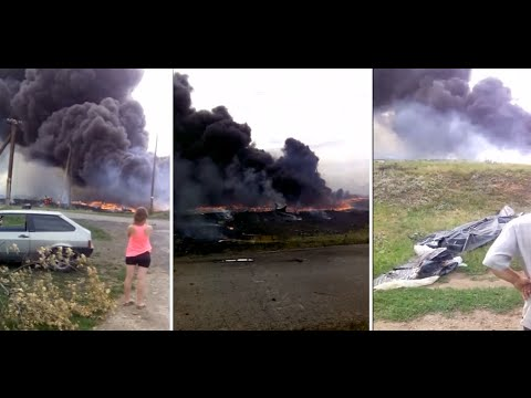 RAW: First moments after MH17 crash caught on camera