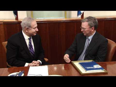 PM Netanyahu Meets with Google Executive Chairman Eric E. Schmidt