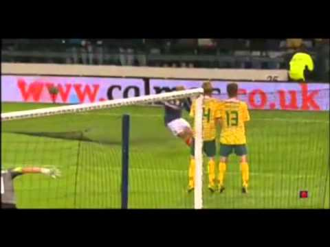 Darren Fletcher Missed Penalty - Scotland Vs Lithuania 0-0 Euro 2012 - 6/9/11