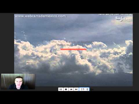 UFO Over Volcano Popocatepetl On Mexico, Aug 29, 2014, UFO Sighting Daily.