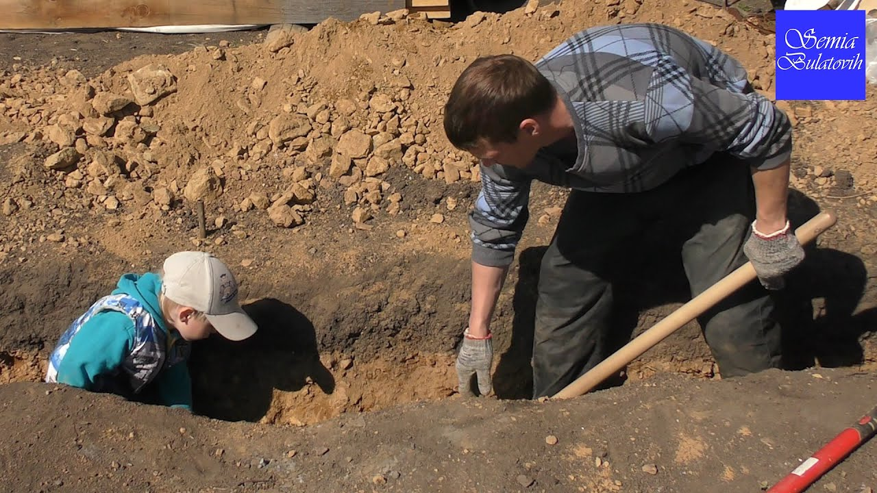 Копаем фундамент своими руками