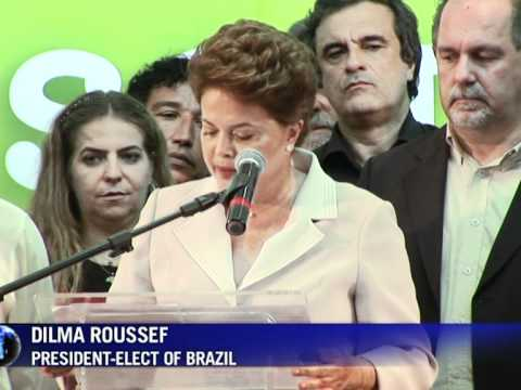 Brazil fetes first female president-elect Rousseff
