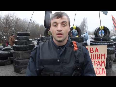 Interview with the activist at the road block