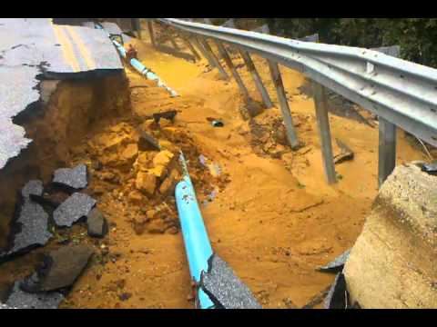 Hurricane Irene destroys bridge