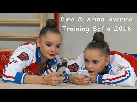 Dina & Arina Averina (RUS) Training World Cup Sofia 2016
