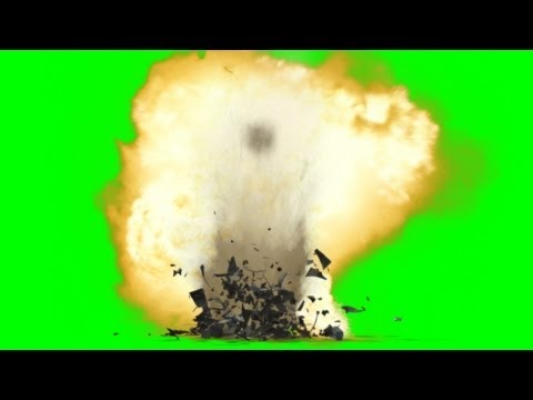 Bomb Ground Explosion Effect Green Screen With Sound video