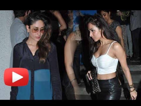 Malaika Arora Khan  Beats Kareena Kapoor At A Party - Who's Hot ? video