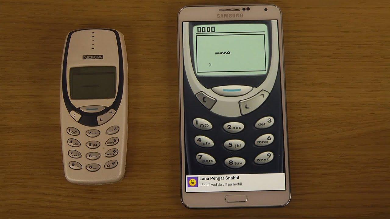 Samsung Galaxy Note 3 Android 4.3 Snake vs. Nokia 3310 Snake ...