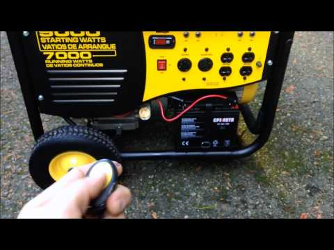 Champion 41532 Generator Review and demonstration 7000 watts