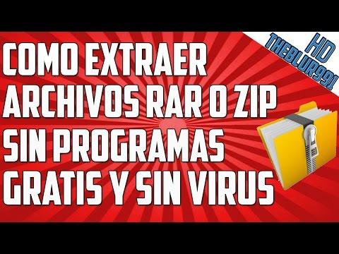 Como extraer un archivos rar o zip sin programas