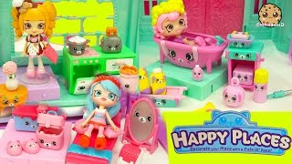 Full Set of 3 Shopkins Happy Places Petkins Kitchen, Bathing Bathroom , Bedroom Welcome Playsets