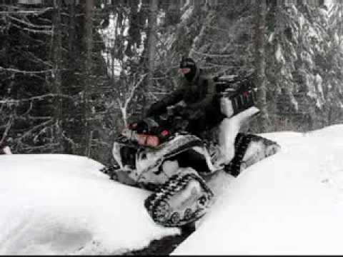 Yamaha Grizzly 700 and ATV Tracks net Video