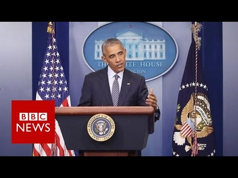 Barack Obama: 'Nobody said democracy's supposed to be easy' BBC News
