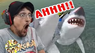 SHARK ATTACK!!! MEGALODON Eats My GUN!! || The Amazing Frog Part 3 w/ FGTEEV Duddy