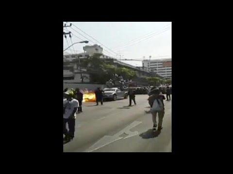 Defiant mood after blast in Bangkok