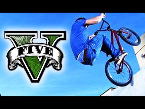 GTA 5 INSANE BMX STUNT MONTAGE! (GTA 5 Stunts)