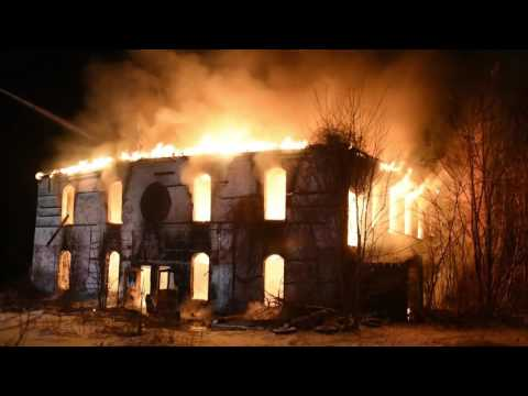 Several area fire departments battle a 2 alarm fire in the old Railroad Salvage mill building in Turners Falls early Saturday morning, Dec. 31, 2016. Recorder/Paul Franz.