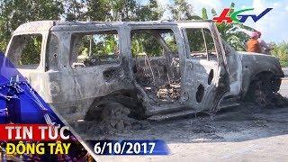 Nghi án xe 7 chỗ bị cướp chặn đốt giữa đêm   TIN TỨC ĐÔNG TÂY - 6/10/2017