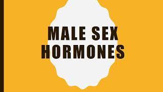 Lecture by Prof Maqsood Ahmad for 3rd year MBBS Pharmacology on Topic Male sex hormones