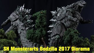 How To Make A Godzilla 2017 Diorama - Forest Base Tutorial - SH MonsterArts Anime Netflix