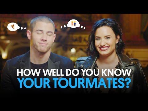 Demi Lovato & Nick Jonas Play 'How Well Do You Know Your Tourmate?'   Billboard