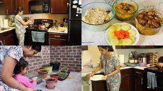 Indian Weekend Special Dinner Routine(CompleteDinnerMenu)Jeera Rice/Dal Fry/Dum Chicken|One Pot Meal
