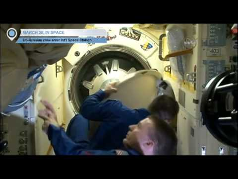 US-Russian crew enter International Space Station