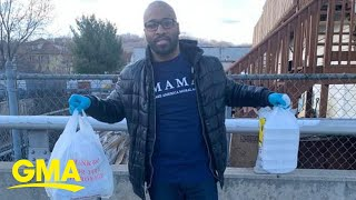 This man has delivered hundreds of meals to senior citizens during the pandemic l GMA Digital