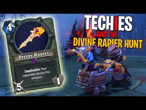 Techies and the Divine Rapier Hunt - DotA 2 Funny Moments