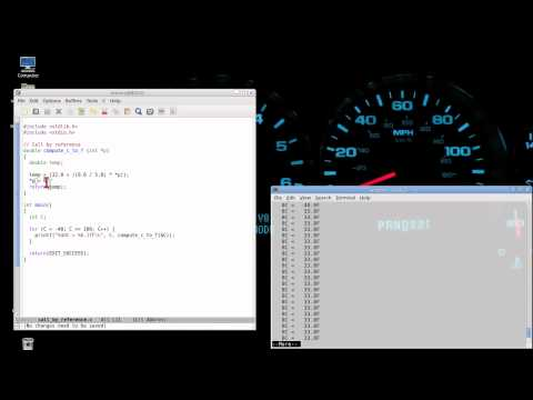 Programming in C: Lesson 17 - Call by reference and &/* address/pointer usage
