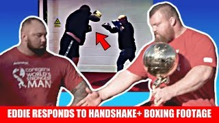 Eddie Hall Responds to Handshake-gate + Leaks NEW Boxing Footage + Stoltman Breaks World Record