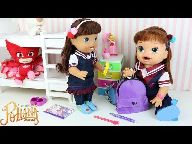 Baby Alive As Aventuras de Poliana indo pra Escola com Valentina a nova Estudante da Escolinha Ruth thumbnail