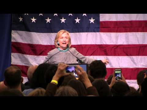 Hillary Clinton Comes to Maine, Stumps for Mike Michaud for Governor
