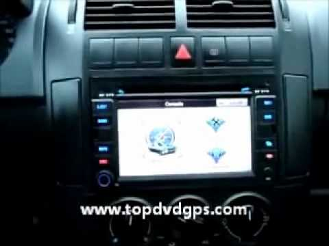 polo 2006 autoradio dvd gps navigator youtube. Black Bedroom Furniture Sets. Home Design Ideas