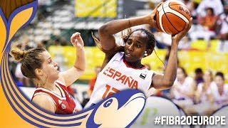 Spain v Russia - Full Game - Semi-Finals - FIBA U20 Women's European Championship 2017